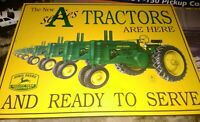 RARE John Deere Metal Sign The New A Series Tractors Are Here    M575