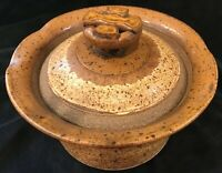 Vtg Bill Coombs, Pleasureville Studio Pottery Virginia Ovenware Casserole 1981