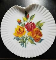 Estate find exquisite Mount Washington Glass Co handpainted plate Roses