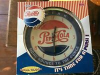 DRINK PEPSI-COLA More Bounce To The Ounce WALL CLOCK ~ Approx 15