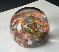 Gorgeous Vintage MURANO MILLEFIORI GLASS PAPERWEIGHT Magnum - 3.5