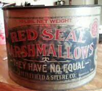 Antique Red Seal Marshmallow 10 lb Tin w/Original Lid   from Knoxville, Tenn.