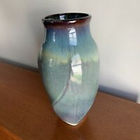"Large 12"" Bill Campbell Pottery Vase - Vintage Ceramic Signed"