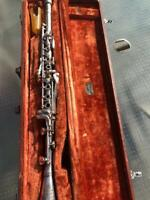 Antique 1910 Cundy Bettoney Three Star Clarinet ~As Is~Collector's or Artist Use