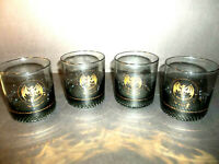 Lot Of 4 Bacardi Gold Bat Rum Glasses The Mixable One San Juan Tumbler