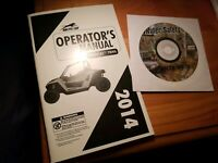 2014 ARCTIC CAT WILDCAT TRAIL ATV OWNERS OPERATORS GUIDE MANUAL - with DVD