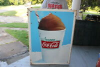 Large Vintage 1960's Frozen Coca Cola Soda Pop Gas Oil 40