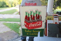 Vintage 1950's Coca Cola Take Home A Carton Soda Pop Gas Station 28