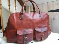 Bag Leather Real Travel Duffel 16