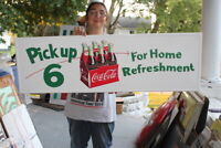 Large Coca Cola Pick Up 6 Reissue Soda Pop Gas Station 50