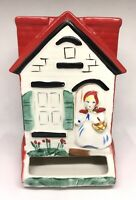 Vintage Original Hull Little Red Riding Hood Wall Mount Match Holder