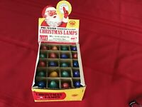 Vintage GE C 9 Christmas Tree Lamp 20 in Santa box Light Bulbs Red,Yellow,Blue,G
