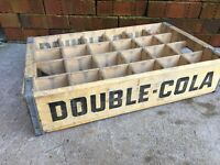 Vintage Wooden Soda Crate Double Cola Squirt Nesbitt Wood Box