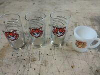 3 - 1960's ESSO EXXON Put A Tiger In Your Tank  drinking glasses 1 fire king mug