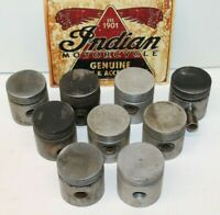 Lot 9 OLD Indian Scout Flathead 45 Motor Pistons Pins