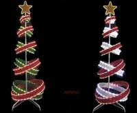 6 FT LED LIGHTED SPIRAL RIBBON OUTDOOR CHRISTMAS TREE 562 LED LIGHTS NEW
