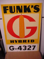 Funk's G Hybrids MASONITE signs, Plot markers in excellent condition