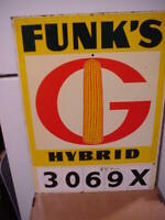 Funk's G Hybrids Plot markers, MASONITE, Experimentals. These are excellent