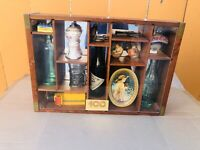 RARE COCA-COLA 100 ANNIV.CENTENNIAL CELEBRATION BOTTLES WOODEN DISPLAY CASE