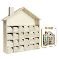 Wooden Christmas Advent Calendar with 24 Drawers House DIY Guru and Crafter