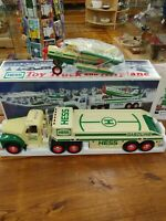 HESS 2002 HESS TOY TRUCK & AIRPLANE MINT IN THE BOX & BAG