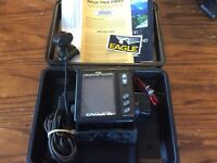 Eagle SupraPro ID Fish and Depth Finder with Transducer Made in The USA