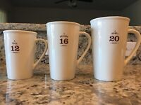 Starbucks 2010 White Ceramic Coffee Mug Cup- Large Star Holiday Collector Set