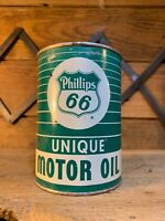 Phillips 66 Oil Can Unique Vintage Original Motor Texaco Gas Pump Sign Shell Old