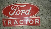Porcelain Ford Tractor Service Enamel Sign 21 x 35 inches