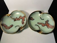 Vtg Jasba Keramik - Pair of Mid-Century Ashtrays - Germany