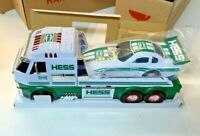 2016 Hess Toy Truck & Dragster Car Hauler w box packing all lights & sounds work