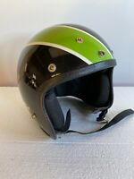 Vintage Artic Cat Helmet Classic Green & Black Colors 70's Medium