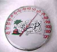 Vintage BARQ'S ROOT BEER Advertising Thermometer Soda Original