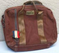 Bag Case Tote LANDS END SQUARE RIGGER CANVAS Duck Heavy Brown Carry Luggage IL