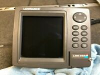 LOWRANCE LMS-332 GPS/DEPTHFINDER USED HEAD UNIT AND POWER CABLE USED
