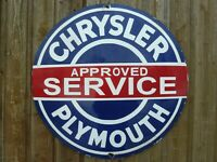 CHRYSLER Porcelain Sign Advertising Vintage Service 20