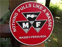 CAST IRON MASSEY FERGUSON TRACTOR NOTHING PULLS LIKE A MASSEY SIGN PLAQUE!