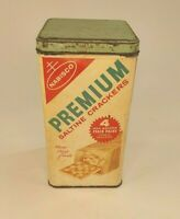 Vtg Retro 1969 Nabisco Premium Saltine Crackers Tin Patina 9: