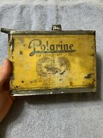 Early Antique Vintage Polarine Standard Oil One Gallon Motor Oil Can For Auto