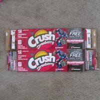 Crush Strawberry Transformers Barricade 12 pack soda pop aluminum can carton