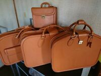 FERRARI 456GT SCHEDONI 4 BAG SET!! LEATHER ITALY Baggage Luggage 456 GT Rare 4pc