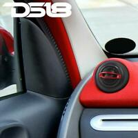 DS18 TWC 1quot; Silk Dome Micro Car Stereo Tweeters 60 Watt Built In Crossovers RED