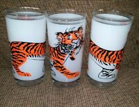 Vtg (3) ESSO Frosted Drinking Glasses/ Gas Station Promo/