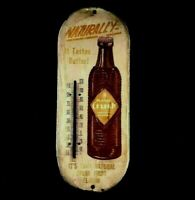 ORANGE-CRUSH NATURALLY IT TASTES BETTER THERMOMETER Rare Old Advertising Sign