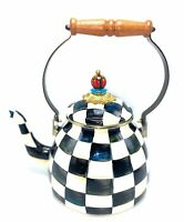 MacKenzie-Childs Courtly Check Enamel Kettle 2qt. #055