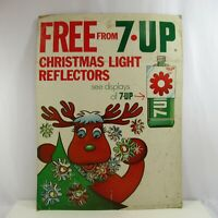 7Up Advertising Sign Christmas Light Reflectors 1970s Free Vintage Store Display