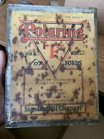 Vintage Antique Original Early 1920s POLARINE 1 GALLON OIL CAN Ford Standard OIL