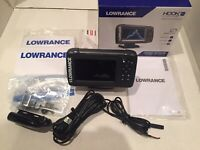 LOWRANCE HOOK2 5X SPLITSHOT HDI GPS PLOTTER FISH FINDER SOLARMAX