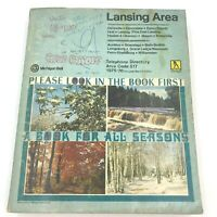 Vintage 1975 1976 Lansing Phone Book Yellow Pages Directory Michigan Bell BK13
