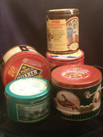 LOT OF COLLECTORS TINS-RITZ,MR COFFEE, QUAKER OATS,NESTLE & GOLDEN KERNAL